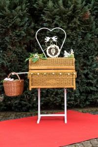 Korb für eine Goldene Hochzeit
