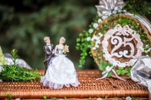 Korb für eine Silberne Hochzeit